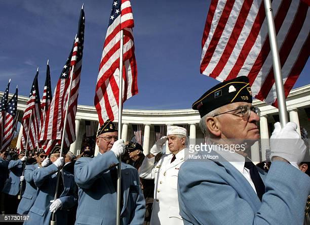 President Bush Observes Veterans Day