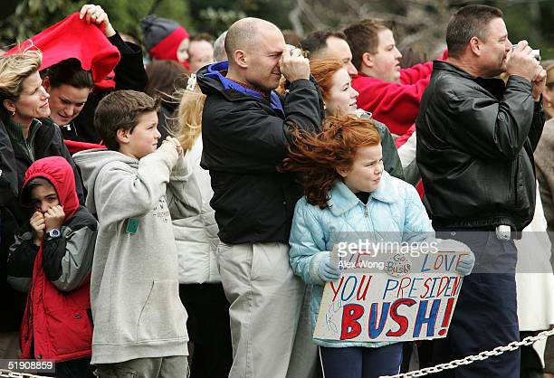 President Bush Returns To Washington After The Holidays