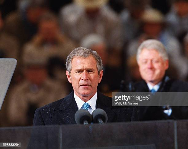 President Bush Speaks to the Crowd