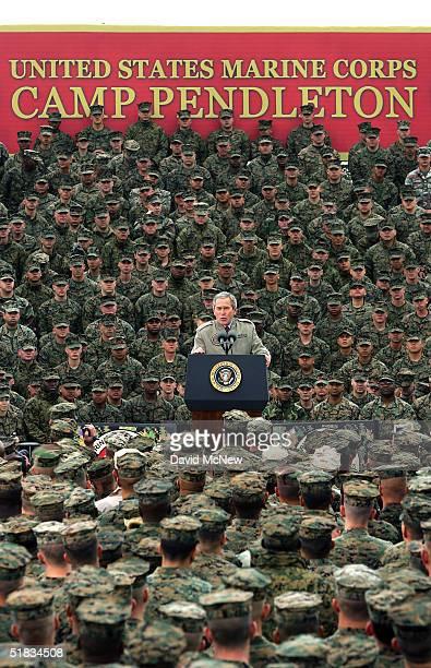 President Bush Visits Camp Pendleton