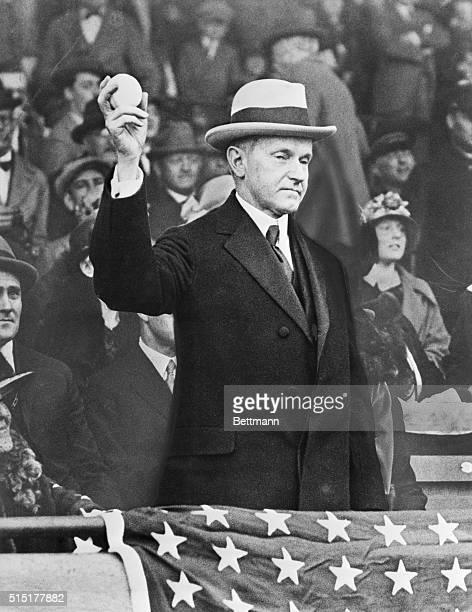 President Calvin Coolidge opening the baseball season April 71924