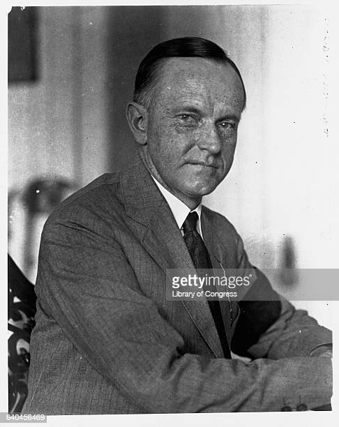 President Calvin Coolidge wears a black armband