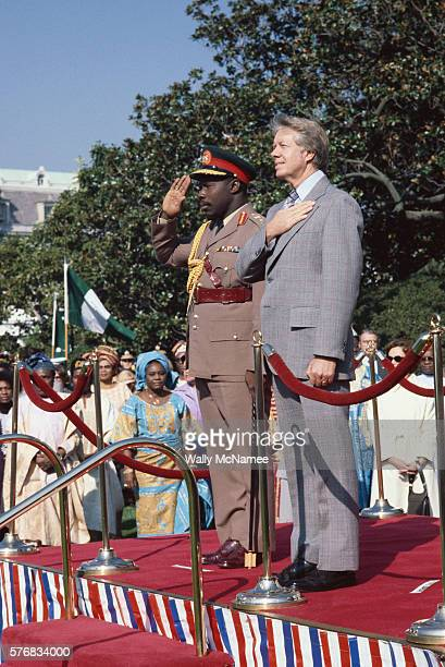 President Carter and Lieutenant General Olusegun Obasanjo