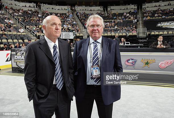 President, CEO and General Manager of the New Jersey Devils Lou Lamoriello and President and General Manager of the New York Rangers Glen Sather...