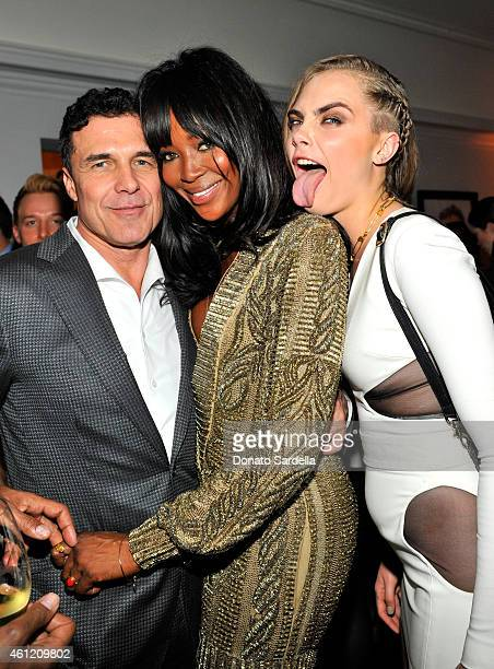 President & CEO, Andre Balazs Properties Andre Balazs, model-actress Naomi Campbell and model Cara Delevingne attend the W Magazine celebration of...
