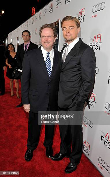 """President & CEO Bob Gazzale and actor Leonardo DiCaprio arrives at the AFI Fest 2011 Opening Night Gala World Premiere Of """"J. Edgar"""" at Grauman's..."""