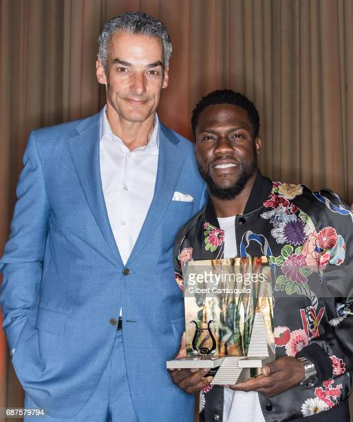 President CEO Brownstein Group Marc Brownstein and honoree actor/comedian Kevin Hart receives the Anne d'Harnoncourt Award for Artistic Excellence...