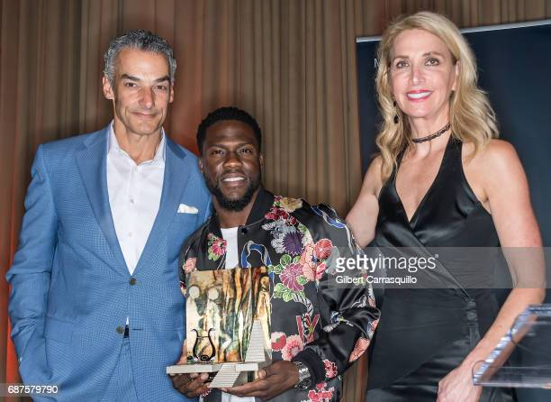 President CEO Brownstein Group Marc Brownstein honoree actor/comedian Kevin Hart with the Anne d'Harnoncourt Award for Artistic Excellence and...