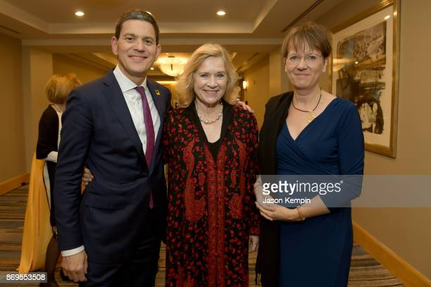 President CEO David Miliband Honoree Liv Ullmann and Louise Shackelton attend The 2017 Rescue Dinner hosted by IRC at New York Hilton Midtown on...