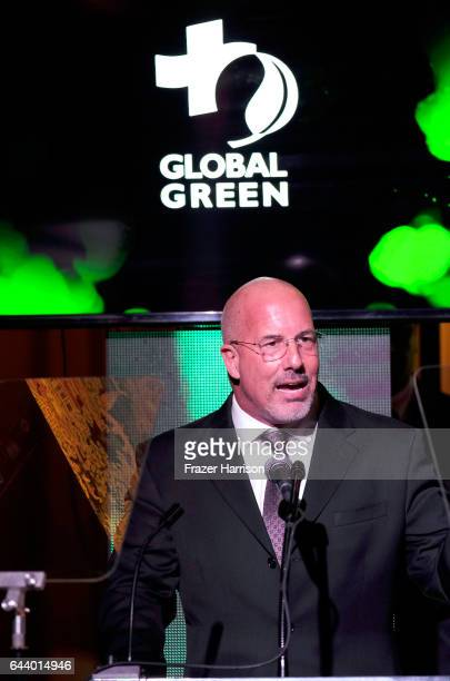 President CEO Global Green USA Les McCabe speaks onstage during the 14th Annual Global Green Pre Oscar Party at TAO Hollywood on February 22 2017 in...