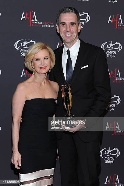 President CEO Juanita D Duggan and CEO President and President Holt Renfrew Mark Derbyshire attend the 2015 AAFA American Image Awards on April 27...