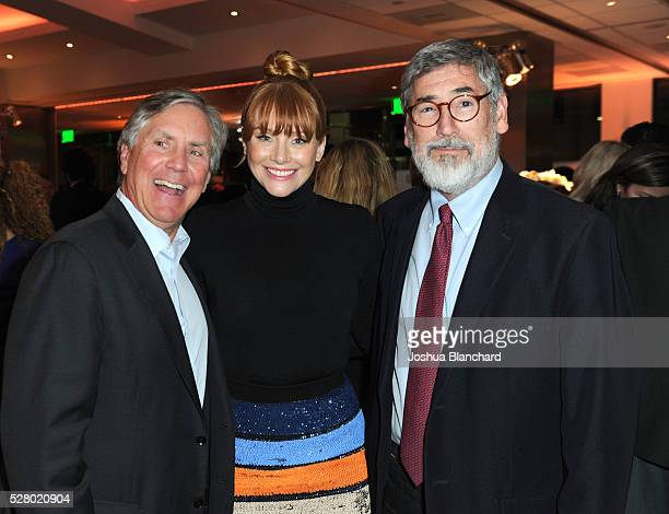 EPIX President CEO Mark Greenberg actress Bryce Dallas Howard and director John Landis attend the Under The Gun LA premiere featuring Katie Couric...