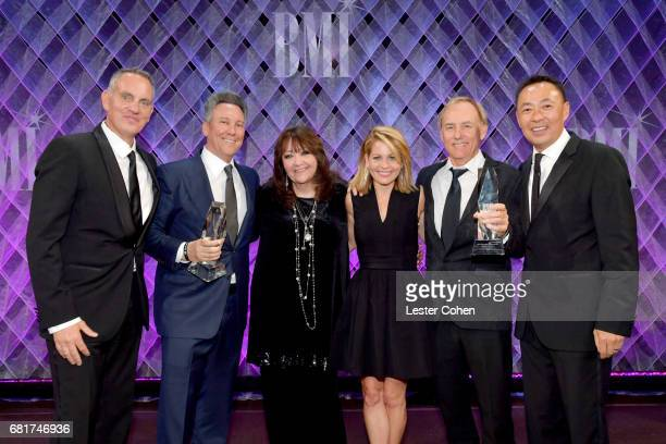 BMI President CEO Mike O'Neill BMI VP Film producer Jeff Franklin TV Visual Media Relations Doreen RingerRoss actor Candace CameronBure honoree...