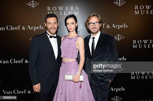 President CEO of Americas at Van Cleef Arpels Alain Bernard actress Krysten Ritter and Nicolas Bos Global CEO and Creative Director at Van Cleef...
