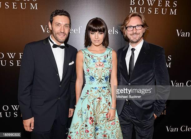 President CEO of Americas at Van Cleef Arpels Alain Bernard actress Camilla Belle and Nicolas Bos Global CEO and Creative Director at Van Cleef...