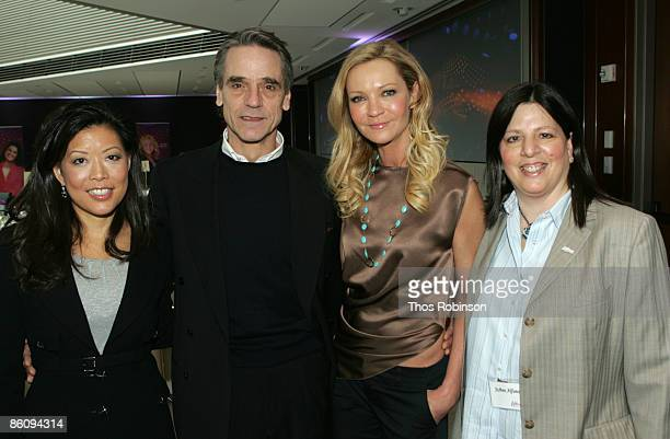 President CEO of Lifetime Networks Andrea Wong actor Jeremy Irons and actress Joan Allen stars of the Lifetime Original Movie Georgia O'Keeffe and...