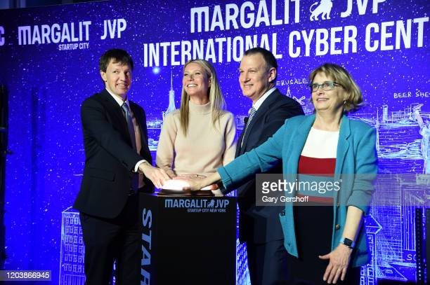 President CEO of NYCEDC James Patchett Gwyneth Paltrow founder Executive Chairman of Jerusalem Venture Partners Erel Margalit and Deputy Mayor of New...
