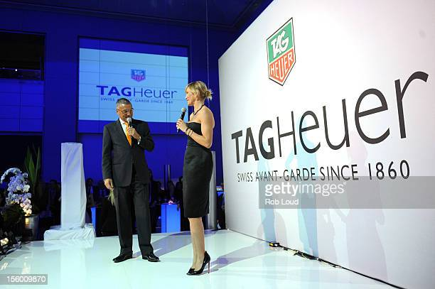 President CEO of TAG Heuer JeanChristophe Babin and Cameron Diaz attend TAG Heuer Celebrates A Night Under The Stars With Ambassador Cameron Diaz To...