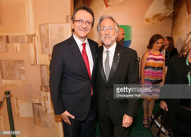 President & CEO of the Latin Academy of Recording Arts & Sciences, Gabriel Abaroa and President of the National Academy of Recording Arts and...