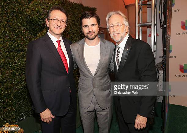 President & CEO of the Latin Academy of Recording Arts & Sciences, Gabriel Abaroa, singer Juanes and President of the National Academy of Recording...