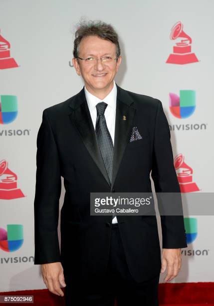 President CEO of the Latin Academy of Recording Arts Sciences Gabriel Abaroa attends the 18th Annual Latin Grammy Awards at MGM Grand Garden Arena on...