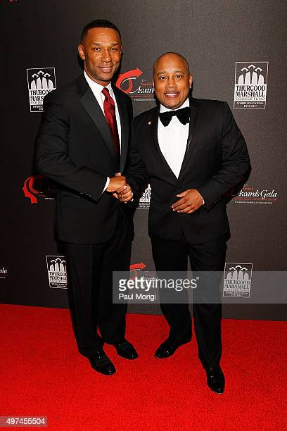 President CEO of the Thurgood Marshall College Fund Johnny C Taylor Jr and TV personality entrepreneur Daymond John attend the Thurgood Marshall...