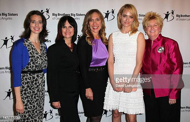 BBBSLA president CEO Tiffany Siart board member of BritWeek and LA's BEST and Innovator Award recipient Sharon Harroun Peirce DreamWorks Animation...