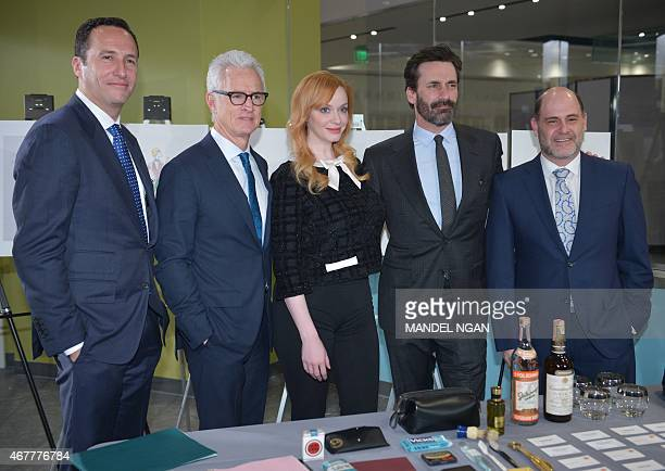 AMC President Charlie Collier actor John Slattery who played the character 'Roger Sterling' in the AMC television series 'Mad Men' actress Christina...