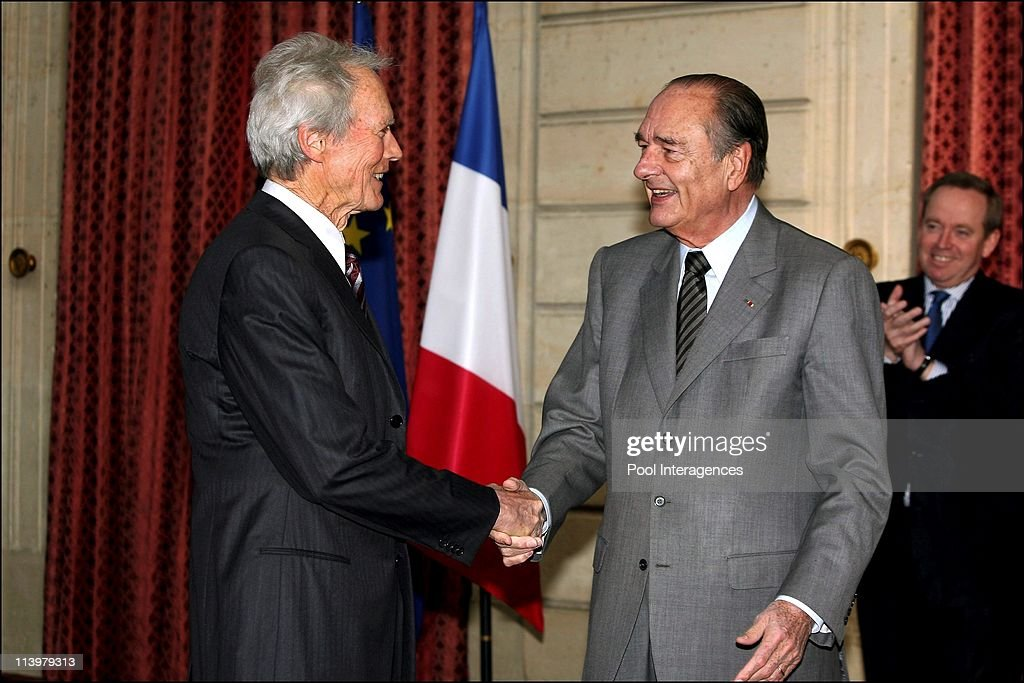 President Chirac awards High French Order to Clint Eastwood