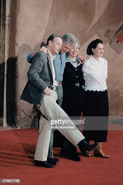 President Clinton and wife Hillary stand with Canadian Prime Minister Jean Chretien and his wife Aline at the G-8 summit in Denver.