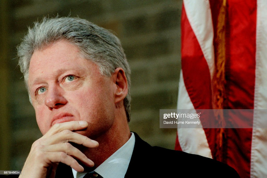 President Bill Clinton Reflecting : News Photo