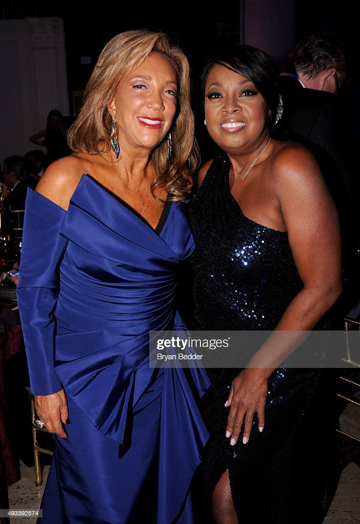 President & Co-Founder of Gabrielle's Angel Foundation Denise Rich and Star Jones attend Angel Ball 2015 hosted by Gabrielle's Angel Foundation at Cipriani Wall Street on October 19, 2015 in New York City.