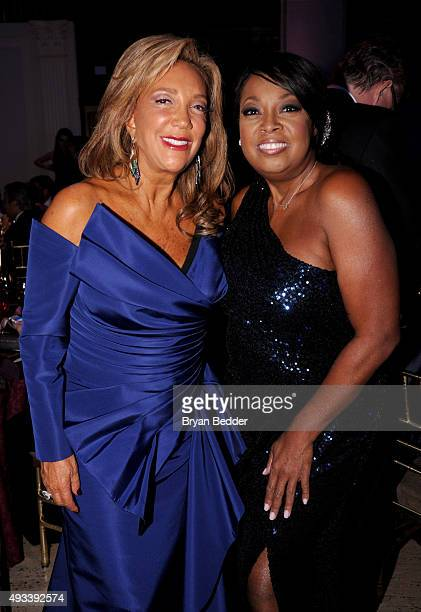 President CoFounder of Gabrielle's Angel Foundation Denise Rich and Star Jones attend Angel Ball 2015 hosted by Gabrielle's Angel Foundation at...