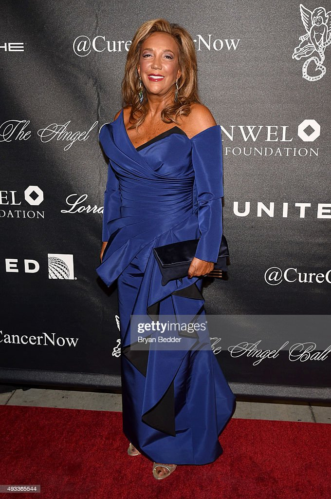 President & Co-Founder of Gabrielle's Angel Foundation Denise Rich attends Angel Ball 2015 hosted by Gabrielle's Angel Foundation at Cipriani Wall Street on October 19, 2015 in New York City.