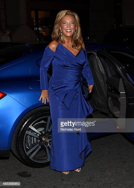 President CoFounder of Gabrielle's Angel Foundation Denise Rich attends Angel Ball 2015 hosted by Gabrielle's Angel Foundation at Cipriani Wall...