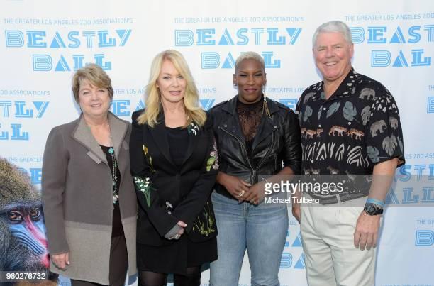 GLAZA President Connie Morgan musician Nancy Wilson wearing a jacket by Stella McCartney musician Liv Warfield and GLAZA Chair Richard Corgel attend...