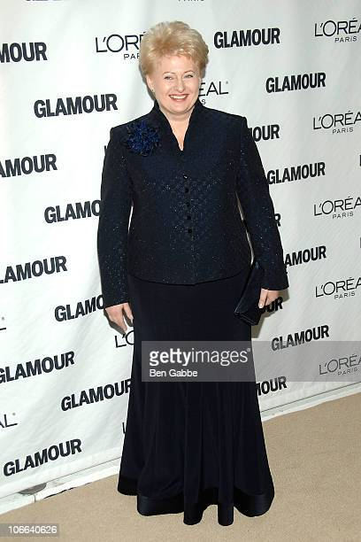 President Dalia Grybauskaite of Lithuania attends the 20th annual Women of the Year awards at Carnegie Hall on November 8 2010 in New York City