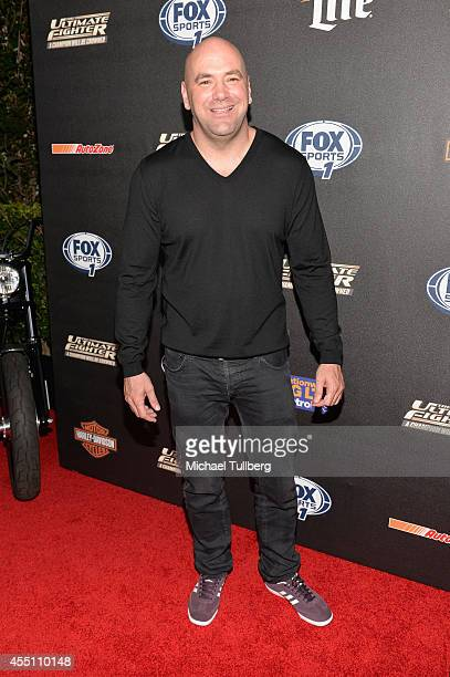 President Dana White attends FOX Sports 1's 'The Ultimate Fighter' Season Premiere Party at Lure on September 9 2014 in Hollywood California