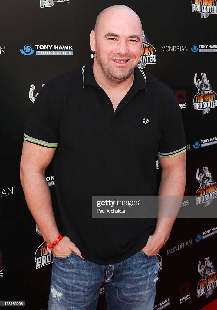 President Dana White attends the 9th annual Stand Up For Skateparks benefit at Ron Burkle's Green Acres Estate on October 7, 2012 in Beverly Hills, California.
