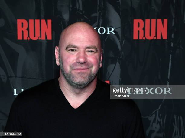 """President Dana White attends the grand opening night for """"R.U.N - The First Live Action Thriller"""" presented By Cirque du Soleil at Luxor Hotel and..."""