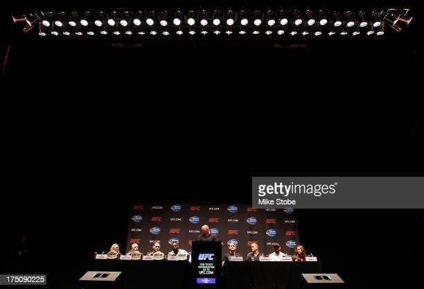 UFC president Dana White hosts a press conference live with UFC heavyweight champion Cain Velasquez Junior Dos Santos UFC light heavyweight champion...