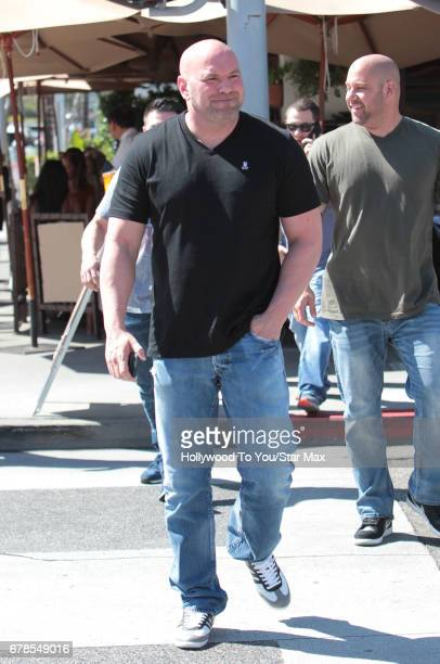 President Dana White is seen on May 3 2017 in Los Angeles California