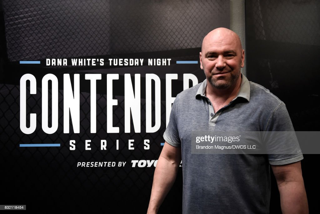 President Dana White poses for a picture during Dana White's Tuesday Night Contender Series at the TUF Gym on August 15, 2017 in Las Vegas, Nevada.