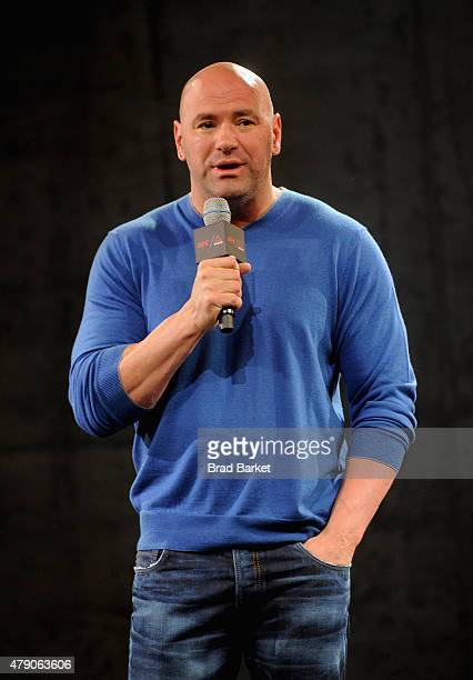 President Dana White speaks the Launch Of The Reebok UFC Fight Kit at Skylight Modern on June 30 2015 in New York City