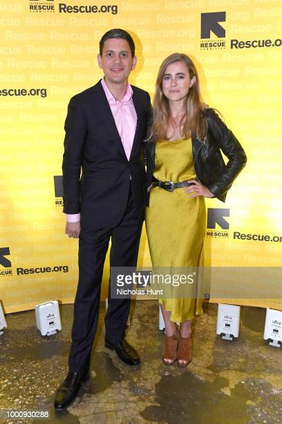 President David Miliband and Melissa Roxburgh attends the IRC GenR NY Force For Change Summer Party on July 17 2018 in New York City