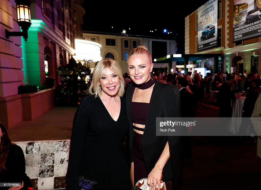 President Debbie Levin (L) and actress Malin Akerman attend the Environmental Media Association 26th Annual EMA Awards Presented By Toyota, Lexus And Calvert at Warner Bros. Studios on October 22, 2016 in Burbank, California.