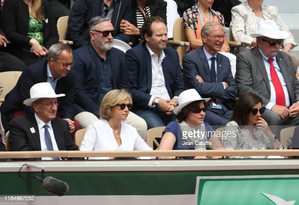 President Denis Masseglia Valerie Pecresse French Minister of Sports Roxana Maracineanu Mayor of Paris Anne Hidalgo above Franck Ballanger attend the...