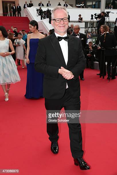 President des Festival du Cannes Thierry Fremaux departs the Premiere of 'Umimachi Diary' during the 68th annual Cannes Film Festival on May 14 2015...
