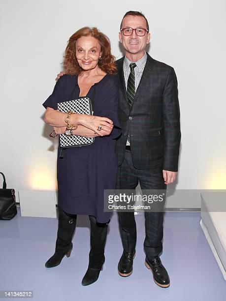 President Diane von Furstenberg and CFDA CEO Steven Kolb announce the 2012 CFDA Awards Nominee Honoree announcement at Diane Von Furstenberg on March...