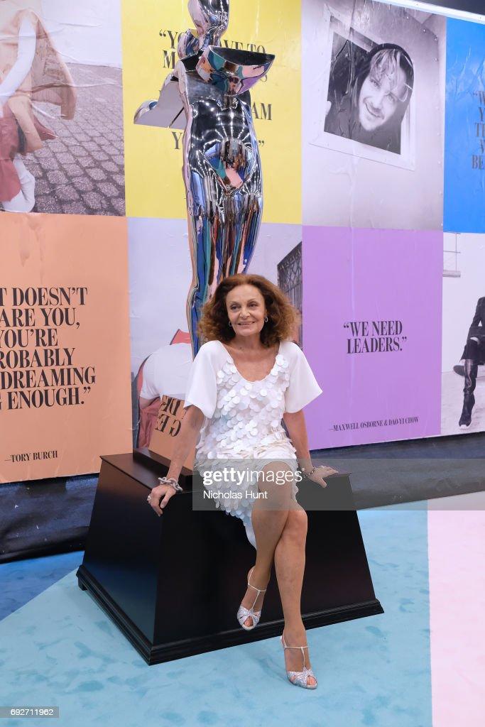 President Diane von Furstenberg attends the 2017 CFDA Fashion Awards Cocktail Hour at Hammerstein Ballroom on June 5, 2017 in New York City.